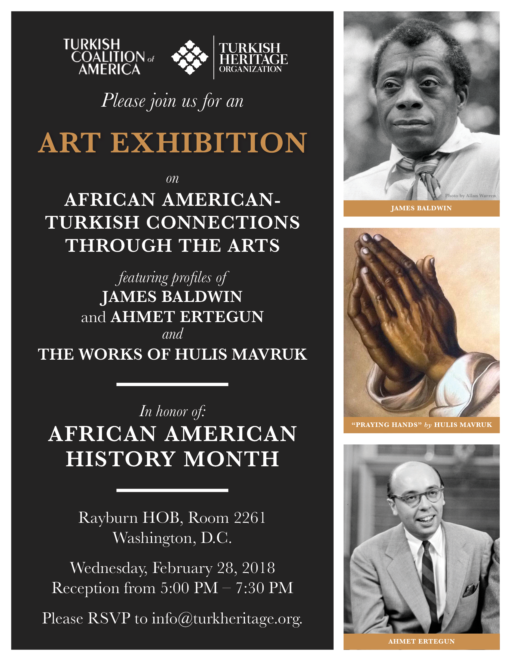 FEB. 28: ART EXHIBITION AND RECEPTION ON AFRICAN AMERICAN-TURKISH CONNECTIONS THROUGH THE ARTS