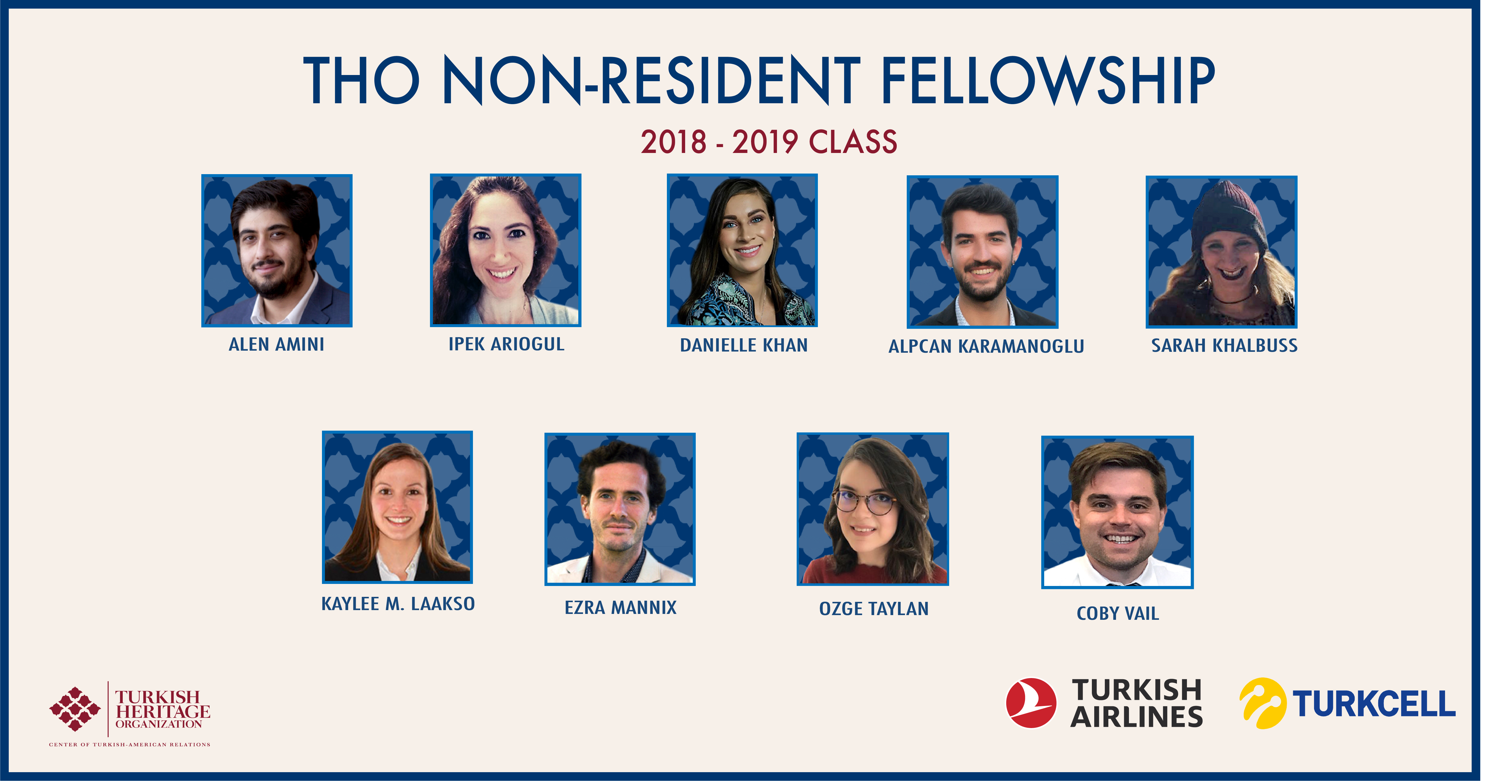 Turkish Heritage Organization is announcing our 2018-2019 non-resident fellows