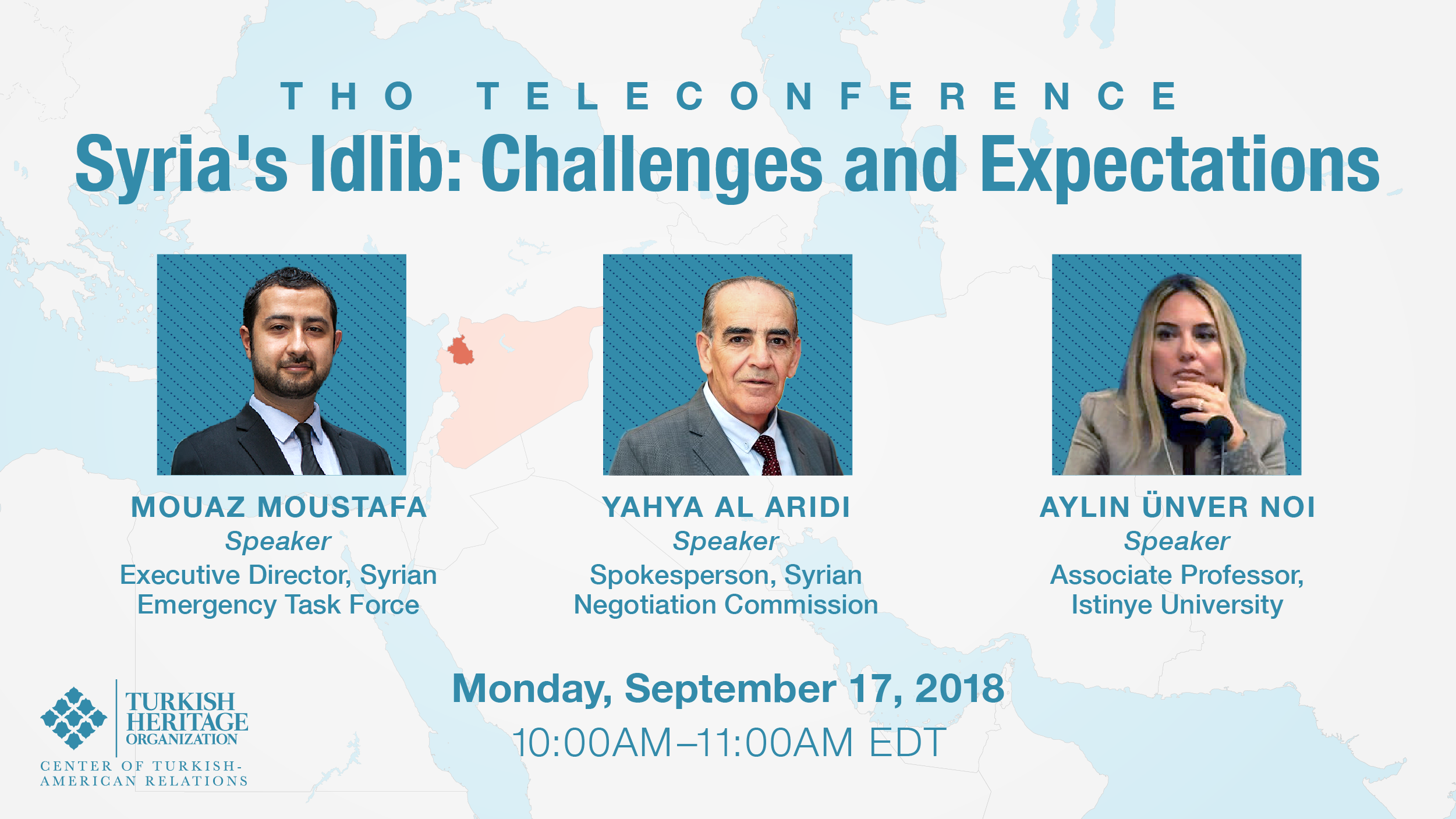 Teleconference: Syria's Idlib: Challenges and Expectations