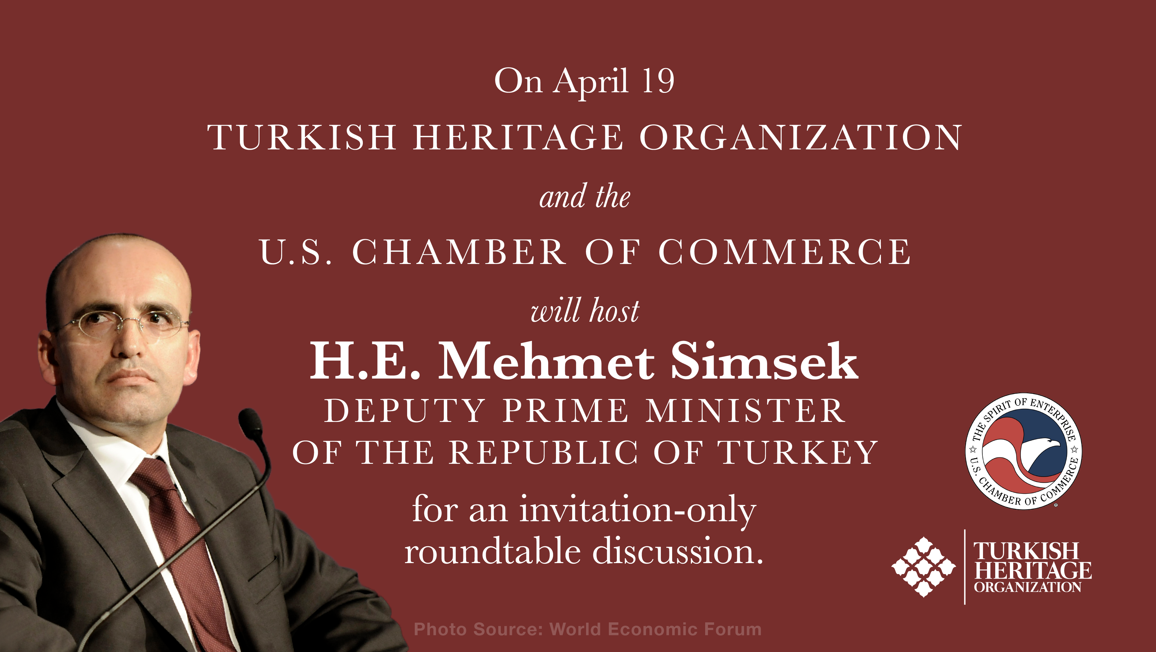 THO and U.S. Chamber of Commerce to Host H.E. Mehmet Simsek