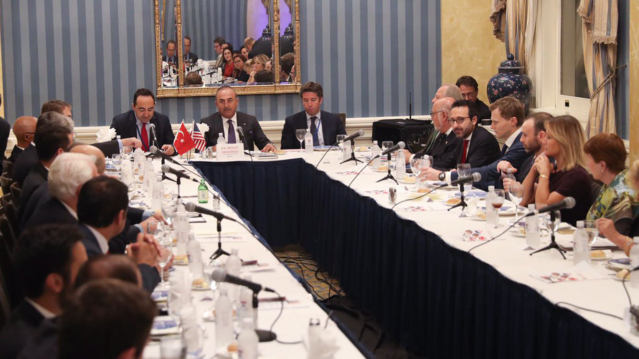 On September 20, 2017, THO hosted a private roundtable dinner with Turkish Foreign Minister Mevlut Cavusoglu in New York City on the sidelines of the UN General Assembly