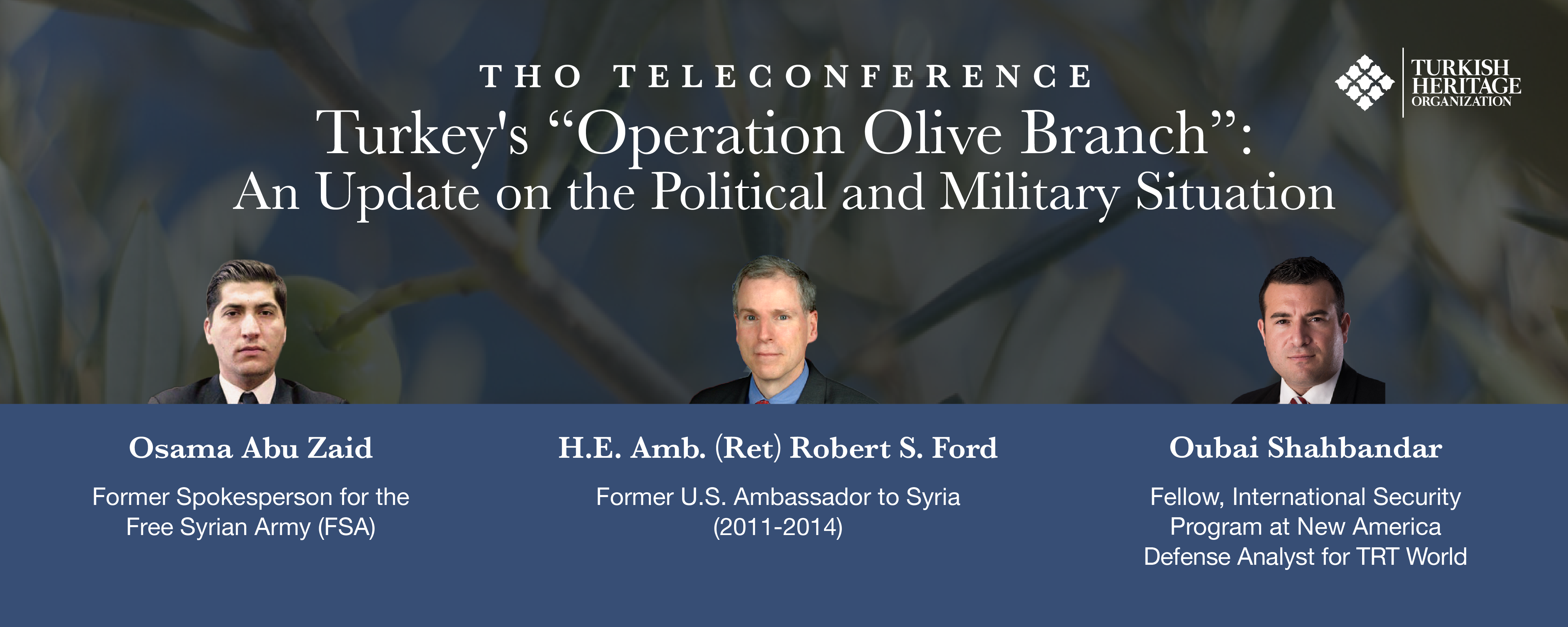 THO Teleconference Offers Update on Operation Olive Branch
