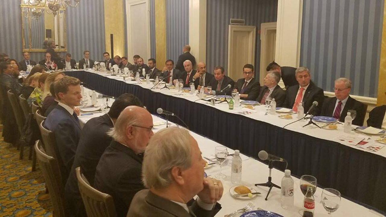 At THO roundtable, Foreign Minister Cavusoglu discusses U.S.-Turkey relations and Turkish foreign policy with high-level guests